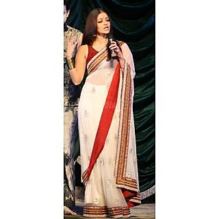 Bollywood Replica - Aishwarya Rai White Saree