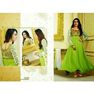 Fastcolors Women's Green Salwar Suit And Dupatta