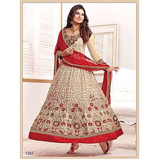 Fastcolors Women's Beige Salwar Suit And Dupatta