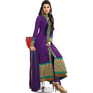 Fastcolors Women's Violet Salwar Suit And Dupatta