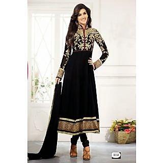 Fastcolors Women's Black Salwar Suit And Dupatta