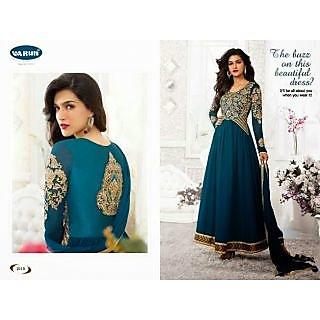 Fastcolors Women's Peacock Salwar Suit And Dupatta