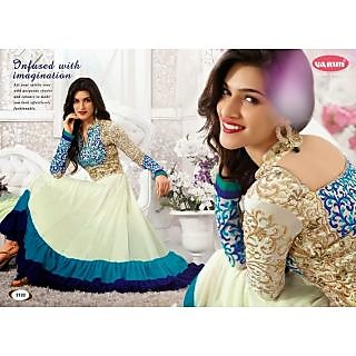 Fastcolors Women's White Salwar Suit And Dupatta