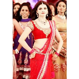 Bollywood Sarees: Prachi Desai Style Red Net Saree