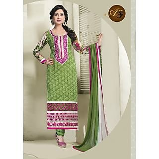 Atmiya Fashion Pure Georgette Green Color Very Attractive Look Long Dress
