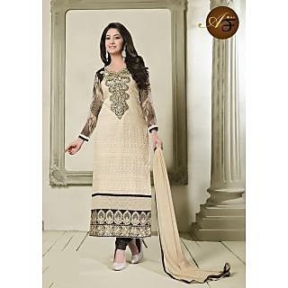 Atmiya Fashion Pure Georgette Crem Color Very Attractive Look Long Dress