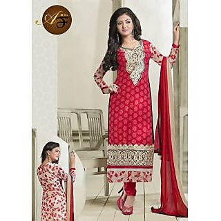 Atmiya Fashion Pure Georgette Red Color Very Attractive Look Long Dress