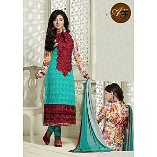 Atmiya Fashion Pure Georgette LightseaGree Color Very Attractive Look Long Dress
