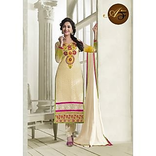 Atmiya Fashion Pure Georgette Beige Color Very Attractive Look Long Dress