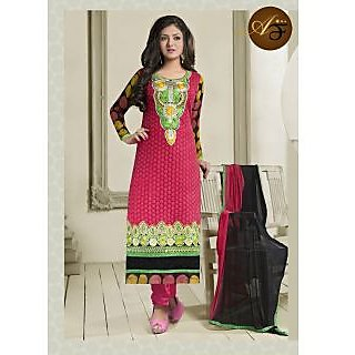 Atmiya Fashion Pure Georgette Cardinal Color Very Attractive Look Long Dress
