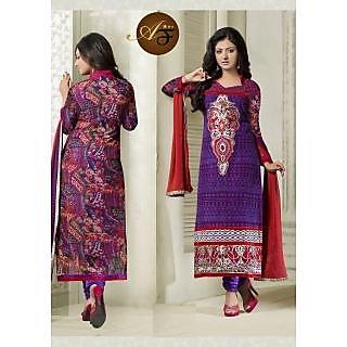Atmiya Fashion Pure Georgette DarkslateBlu Color Very Attractive Look Long Dress