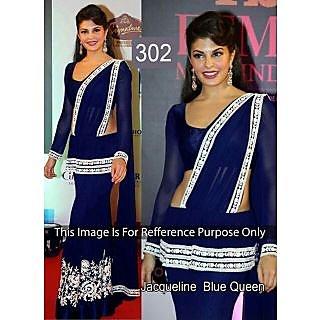 Royal Blue With White Resham Work Bollywood Lehenga Choli