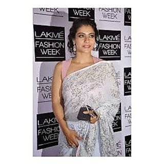 Richlady Fashion Kajol Chiffon Machine Work Sky Blue Saree