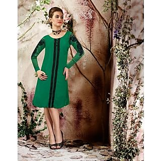 Magnum Opus Store Green Color Viscose Georgette Kurti.
