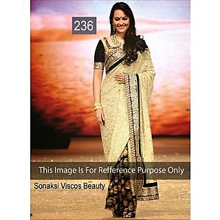 Sonakshi Cream Half N Half Bollywood Replica Saree