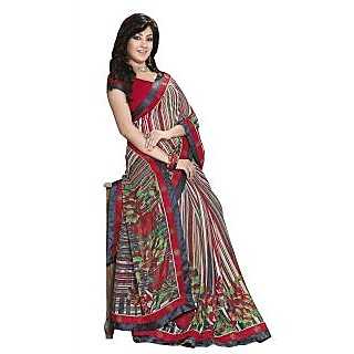 Colors Fashion Multicolor Chiffon Latest Designer Fancy Printed Saree - 74922738