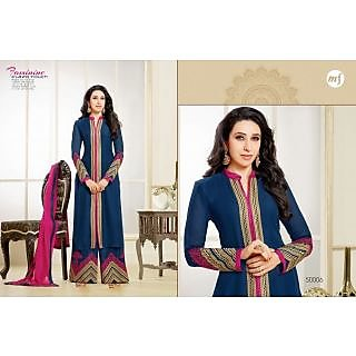 Designer Georgette Embroidery And Hand Work Semi Stitched Suit -50006