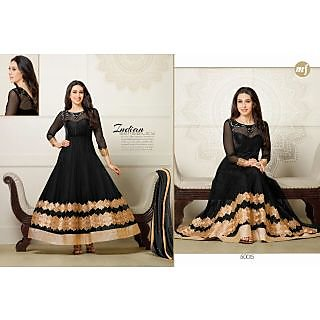 Designer Georgette Embroidery And Hand Work Semi Stitched Suit -50015