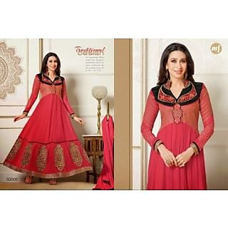 Designer Georgette Embroidery And Hand Work Semi Stitched Suit -50008
