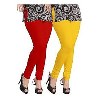 DOLLAR Missy-red And Yellow Two Legings