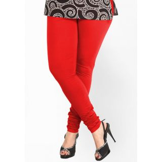 Babe Red Churidar Leggings