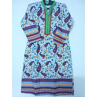 Jaipuri Hand Block Print Cotton Kurti - 74935772