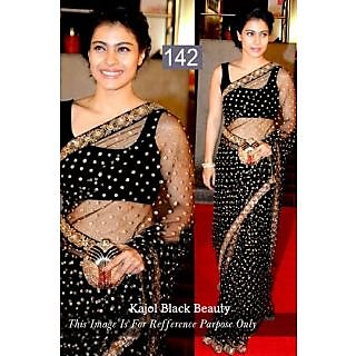 Bollywood Saree KAJOL BLACK BEAUTY - 74936800