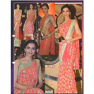 Deepika Padukone Pink Heavy Stylish Saree