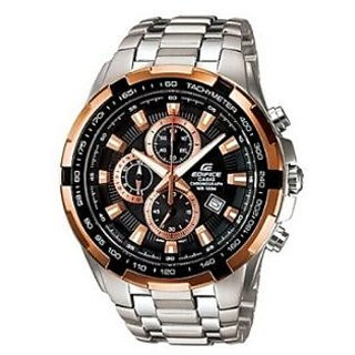 CASIO EDIFICE EF 539D-1A5V BLACK COPPER CHRONOGRAPH MENS WRIST WATCH GIFT