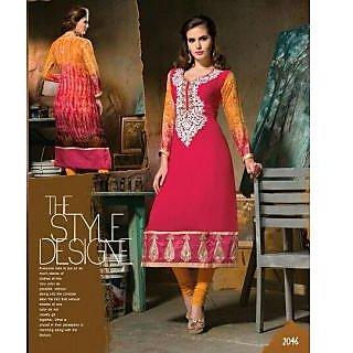 Simar !!! Party Wear Designer Pure Georgette Long Kurti / Kurtis