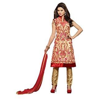 Colors Fashion Cream Faux Georgette Latest Designer Party Wear Straight Fit Salwar Suit Dress - 74922786