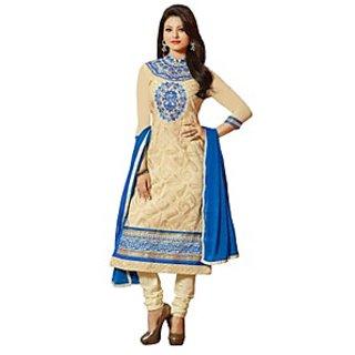 Colors Fashion Cream Faux Georgette Latest Designer Party Wear Straight Fit Salwar Suit Dress - 74922808