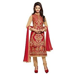 Colors Fashion Maroon Faux Georgette Latest Designer Party Wear Straight Fit Salwar Suit Dress