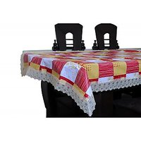 Pvc Plastic Printed Table Cover With Non Woven Backing TCNW002-6080