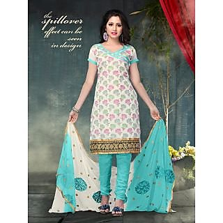 Women's Silk Jacquard Dress Material