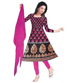 Exclusive Designer Pink Banarasi Dress Material