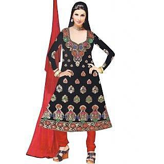 Exclusive Designer Red Banarasi Dress Material - 74975296