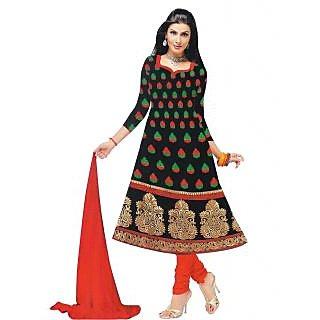 Exclusive Designer Black Banarasi Dress Material - 74975654