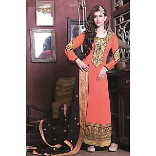 Bonitto Embroidered Orange Party Salwar Kameez For Women_REF11007