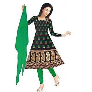 Exclusive Designer Black Banarasi Dress Material