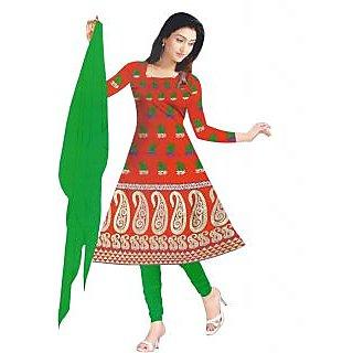 Exclusive Designer Red Banarasi Dress Material - 74976642