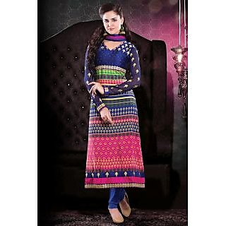 Bonitto Embroidered Blue Party Salwar Kameez For Women_REF2203