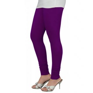 Babe Purple Churidar Leggings