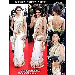 Bollywood Designer Sarees-Deepika Cannes Festival Saree