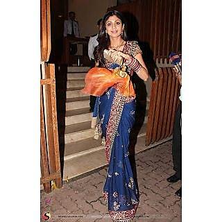 Posharc Shilpa Shetty  Saree