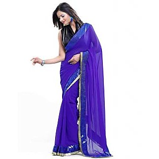 Nairiti Bollywood Replica Deepika Blue Color Georgette Saree