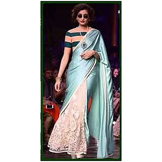 Richlady Fashion Queen In Sky Blue Saree