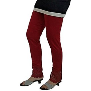 Almos 4 Way Viscose Lycra Blood Red Plazo Legging