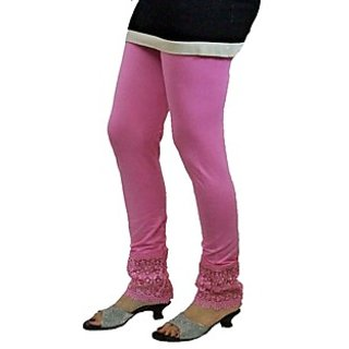 Almos 4 Way Viscose Lycra Baby Pink Plazo Legging