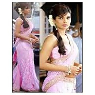 Richlady Fashion Priyanka Chopra In Pink Saree
